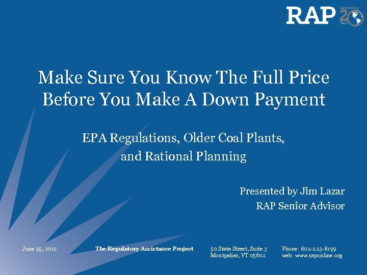 Make Sure You Know The Full Price Before You Make A Down Payment EPA