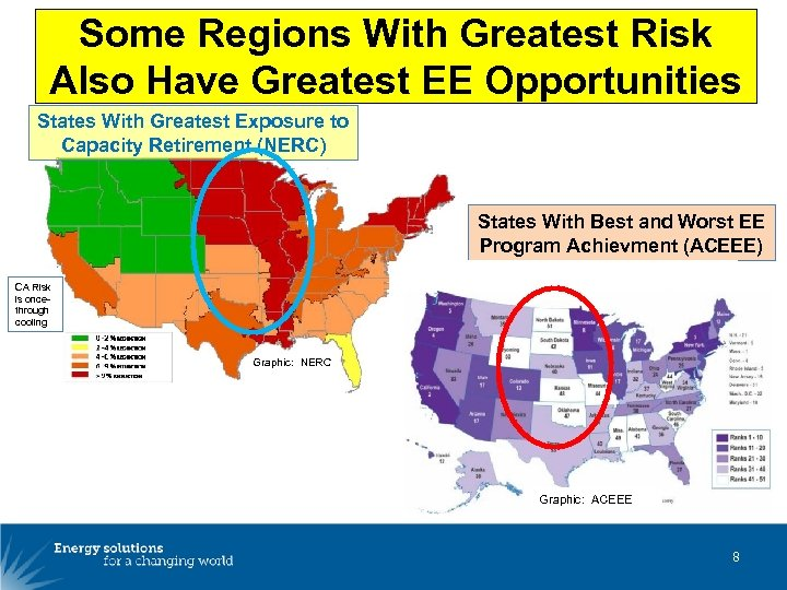 Some Regions With Greatest Risk Also Have Greatest EE Opportunities States With Greatest Exposure