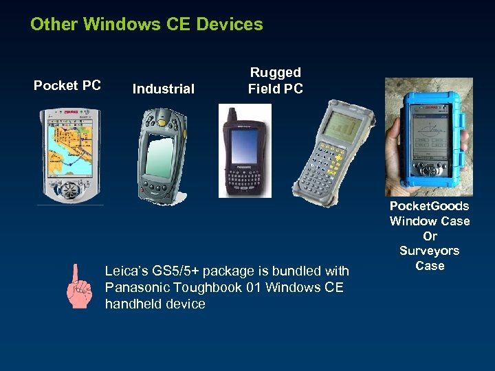 Other Windows CE Devices Pocket PC Industrial Rugged Field PC Leica's GS 5/5+ package