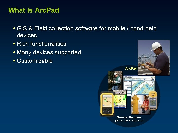 What is Arc. Pad • GIS & Field collection software for mobile / hand-held