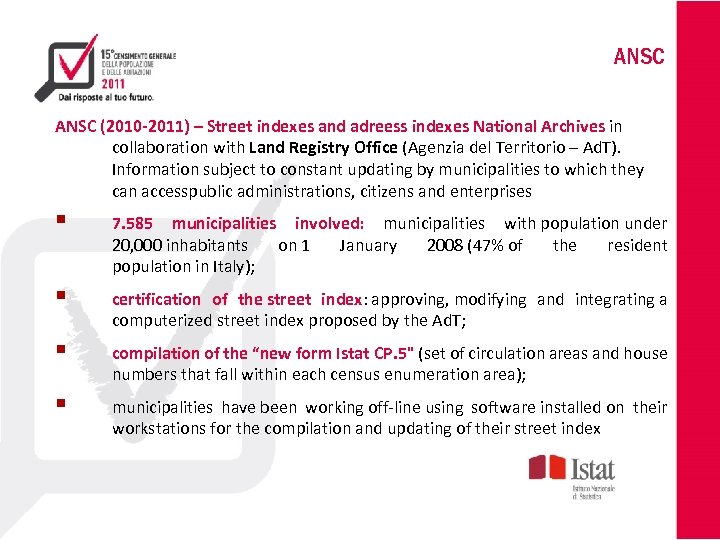 ANSC (2010 -2011) – Street indexes and adreess indexes National Archives in collaboration with
