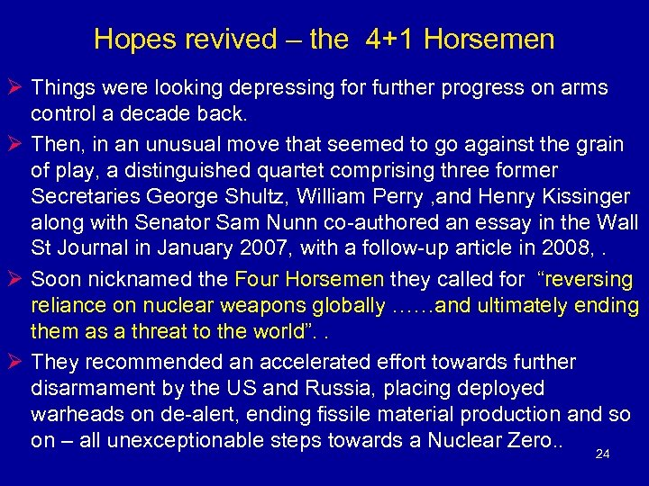 Hopes revived – the 4+1 Horsemen Ø Things were looking depressing for further progress