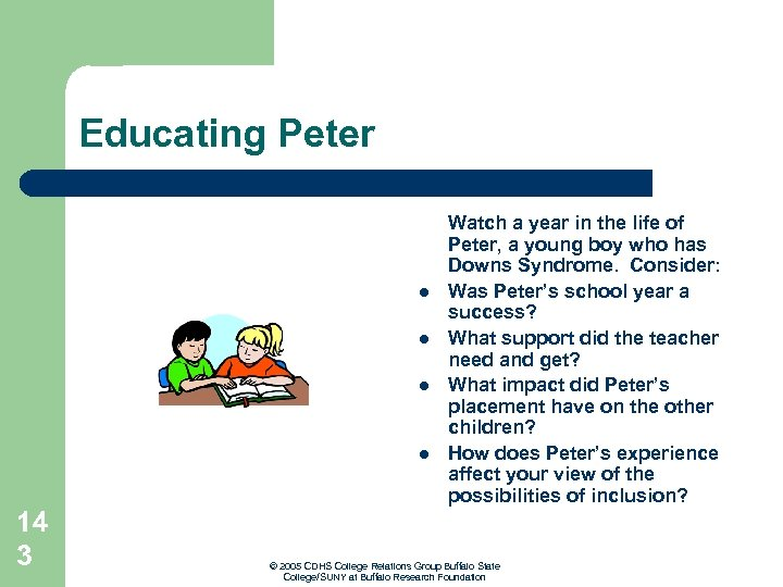 Educating Peter l l 14 3 Watch a year in the life of Peter,