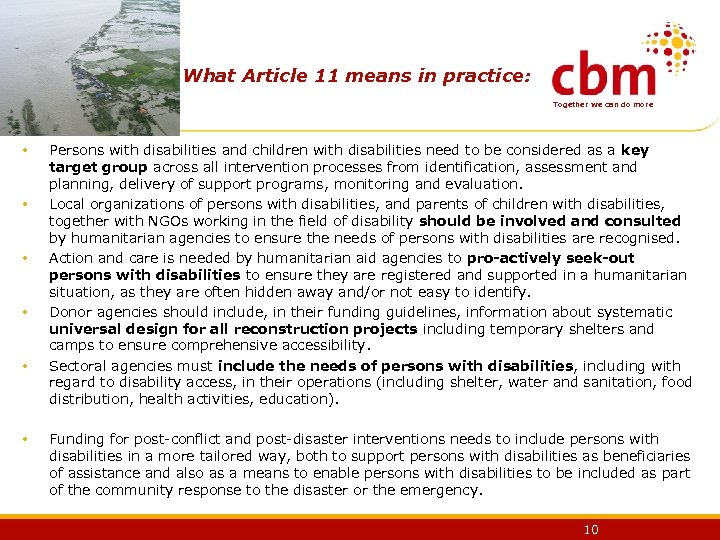 What Article 11 means in practice: Together we can do more • • •