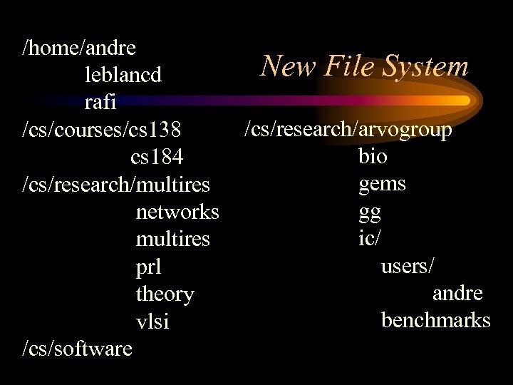 /home/andre leblancd rafi /cs/courses/cs 138 cs 184 /cs/research/multires networks multires prl theory vlsi /cs/software