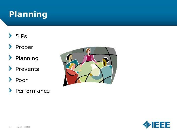 Planning 5 Ps Proper Planning Prevents Poor Performance 5 3/18/2018