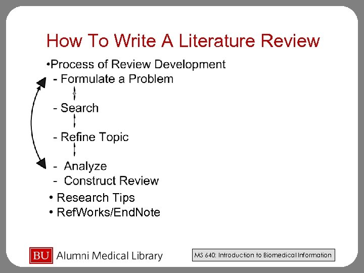 How To Write A Literature Review • Research Tips • Ref. Works/End. Note MS