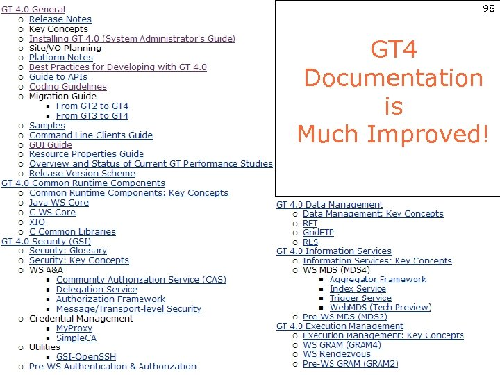 98 GT 4 Documentation is Much Improved!