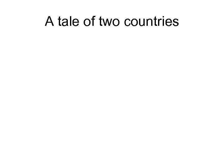 A tale of two countries
