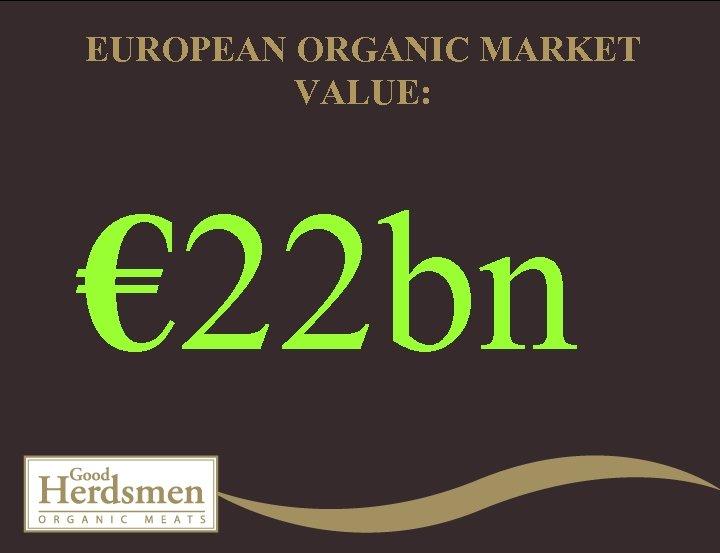 EUROPEAN ORGANIC MARKET VALUE: € 22 bn