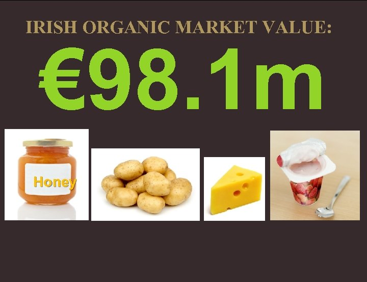 IRISH ORGANIC MARKET VALUE: € 98. 1 m Honey