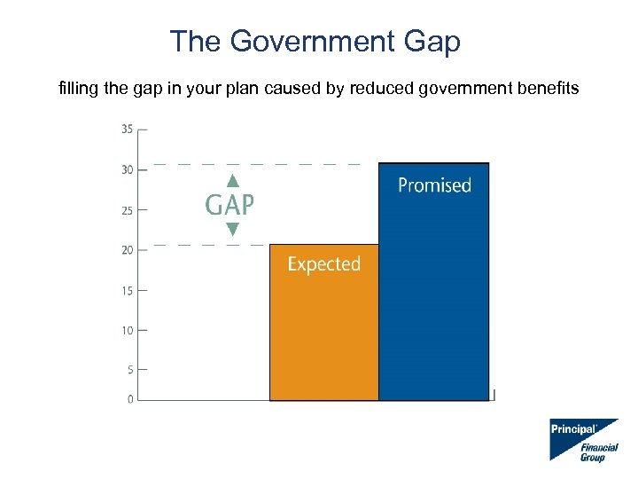 The Government Gap filling the gap in your plan caused by reduced government benefits