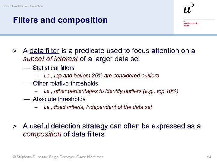 OORPT — Problem Detection Filters and composition > A data filter is a predicate