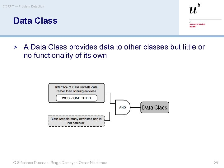 OORPT — Problem Detection Data Class > A Data Class provides data to other