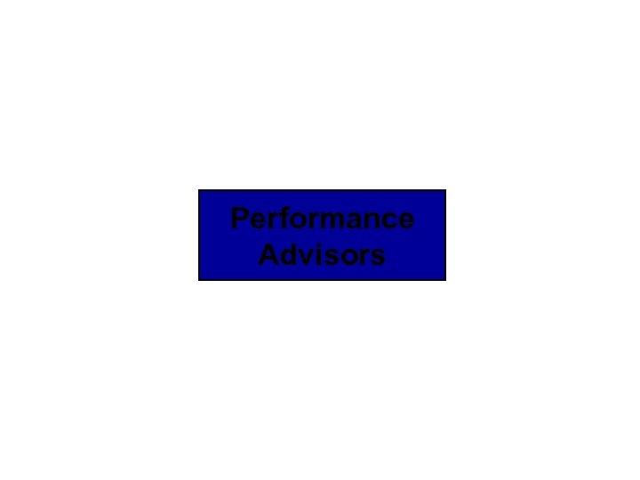 Performance Advisors © 2009 IBM Corporation
