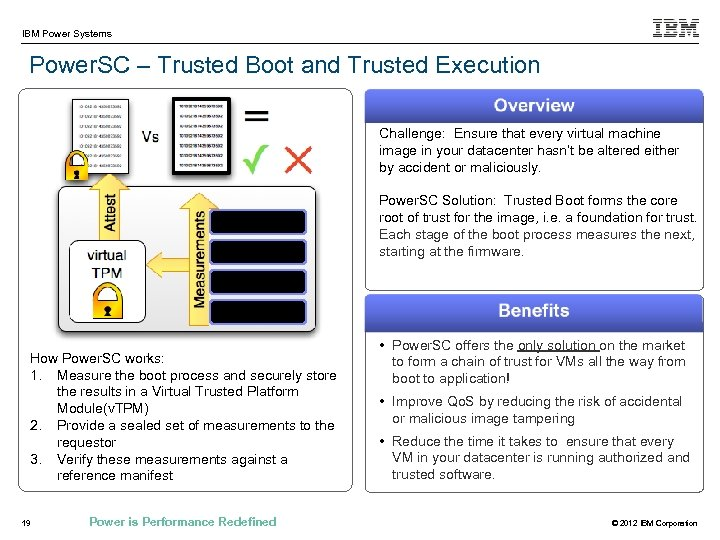 IBM Power Systems Power. SC – Trusted Boot and Trusted Execution Challenge: Ensure that