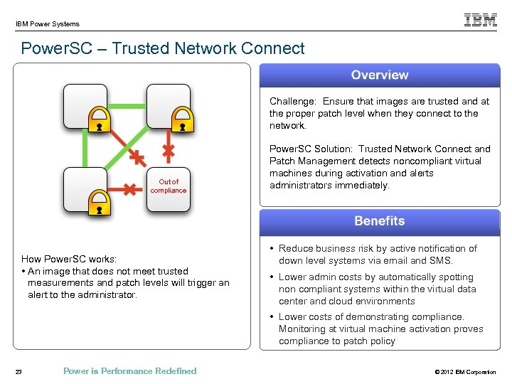 IBM Power Systems Power. SC – Trusted Network Connect Challenge: Ensure that images are