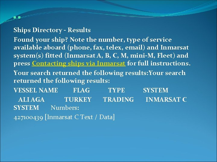 . . Ships Directory - Results Found your ship? Note the number, type of