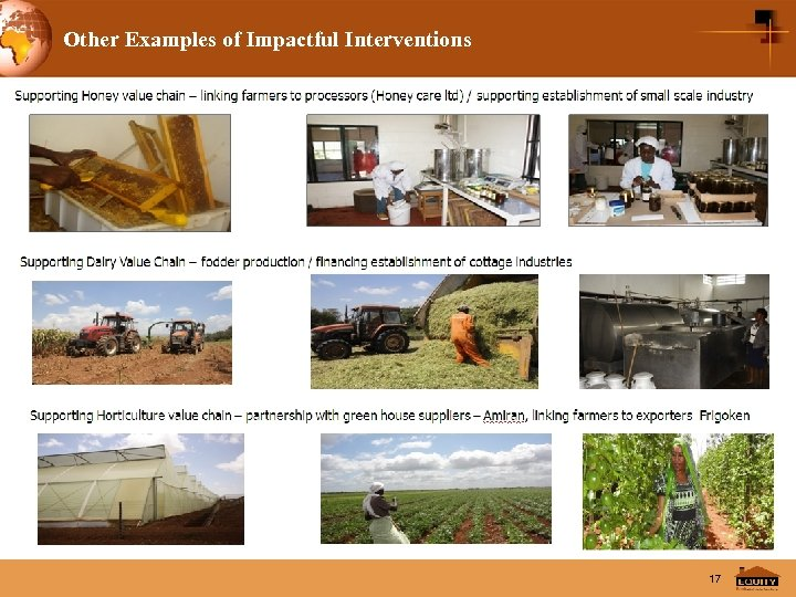 Other Examples of Impactful Interventions 17