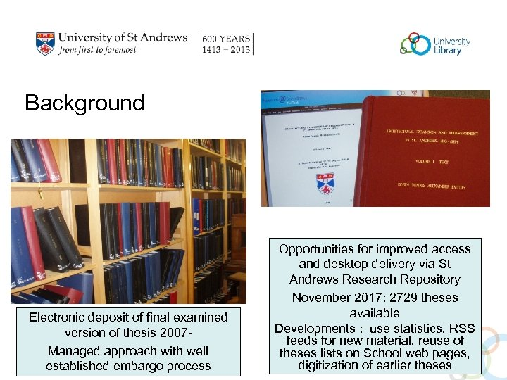 Background Electronic deposit of final examined version of thesis 2007 Managed approach with well
