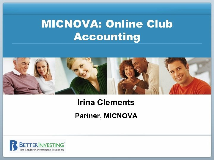 MICNOVA: Online Club Accounting Irina Clements Partner, MICNOVA