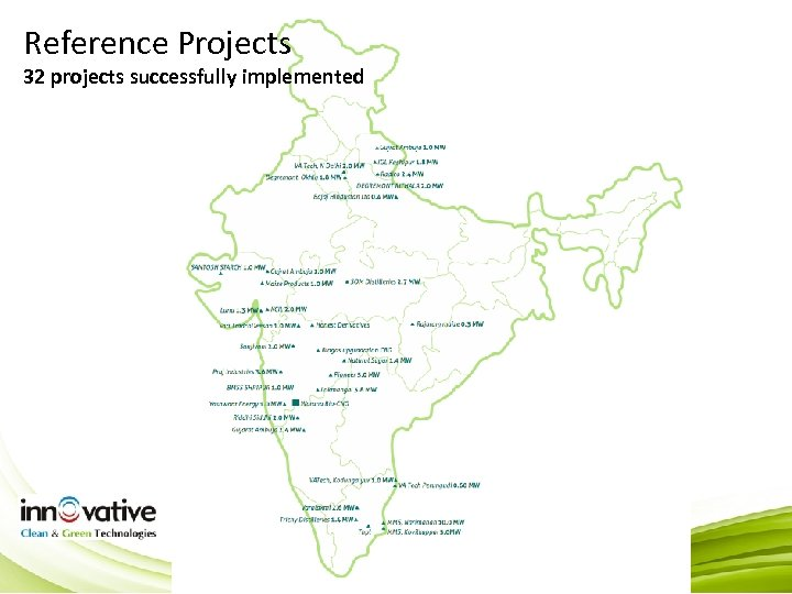 Reference Projects 32 projects successfully implemented