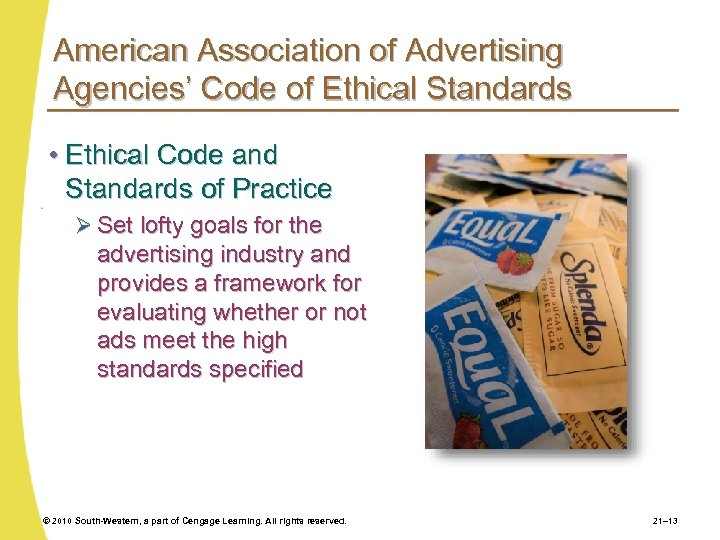 American Association of Advertising Agencies' Code of Ethical Standards • Ethical Code and Standards