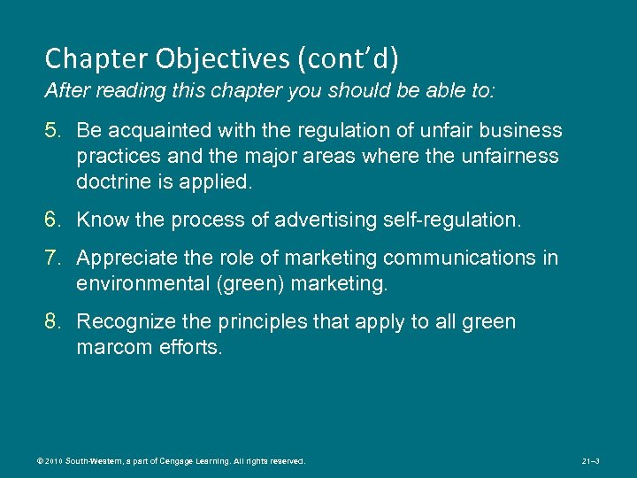 Chapter Objectives (cont'd) After reading this chapter you should be able to: 5. Be
