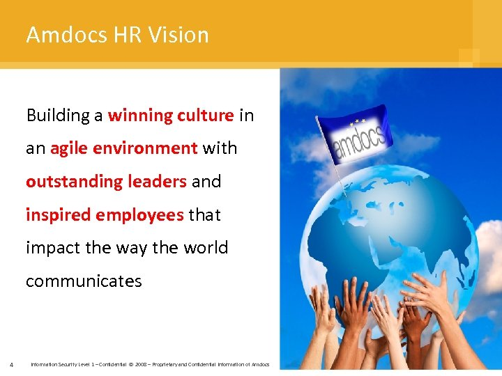 Amdocs HR Vision Building a winning culture in an agile environment with outstanding leaders