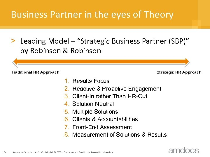 "Business Partner in the eyes of Theory > Leading Model – ""Strategic Business Partner"