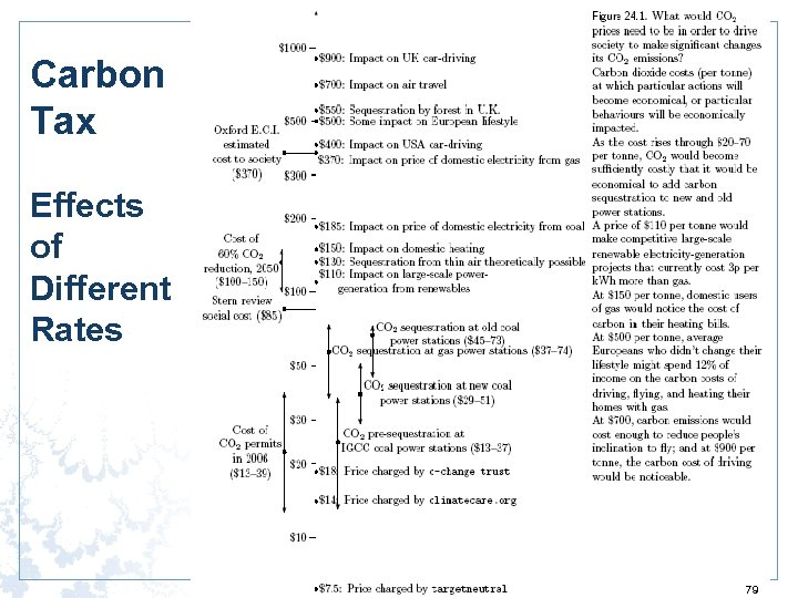 Carbon Tax Effects of Different Rates 79