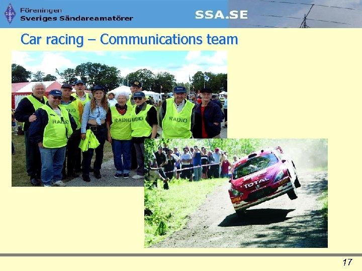 Car racing – Communications team 17