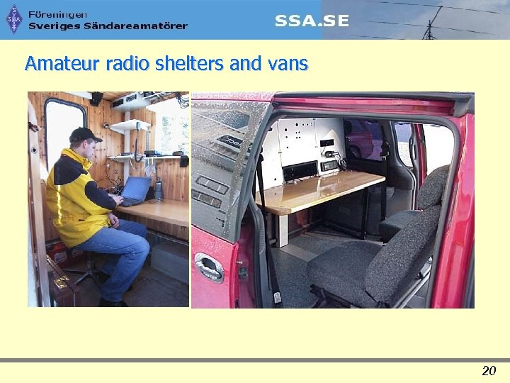 Amateur radio shelters and vans 20
