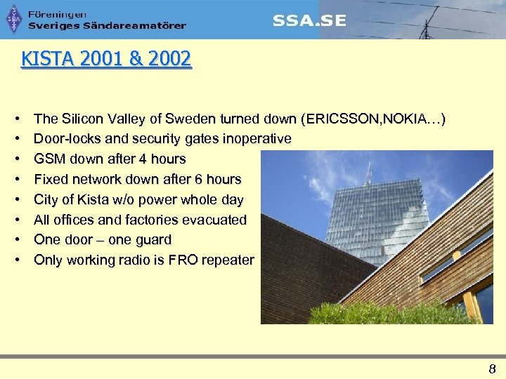 KISTA 2001 & 2002 • • The Silicon Valley of Sweden turned down (ERICSSON,