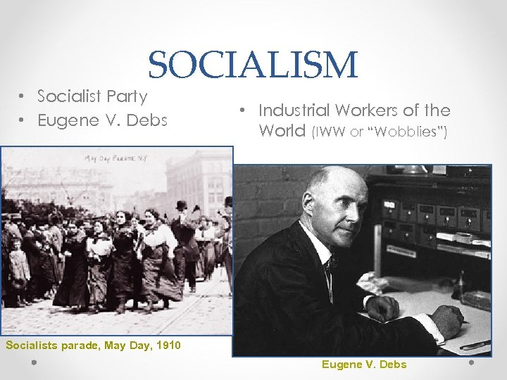 SOCIALISM • Socialist Party • Eugene V. Debs • Industrial Workers of the World