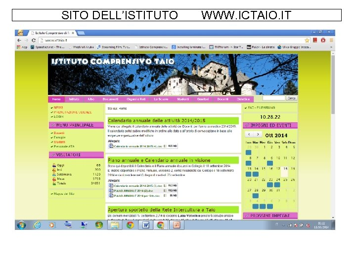SITO DELL'ISTITUTO WWW. ICTAIO. IT