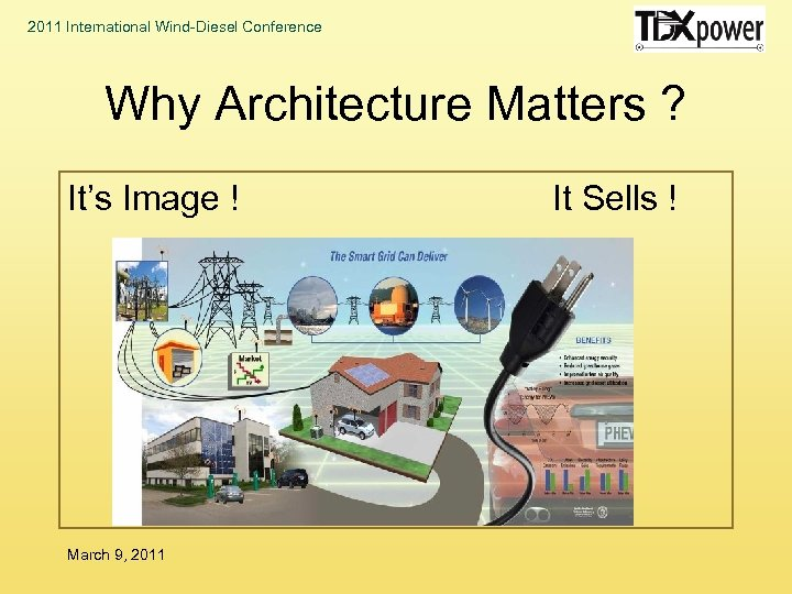 2011 International Wind-Diesel Conference Why Architecture Matters ? It's Image ! March 9, 2011