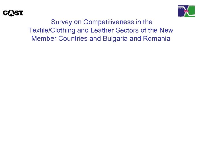 Survey on Competitiveness in the Textile/Clothing and Leather Sectors of the New Member Countries