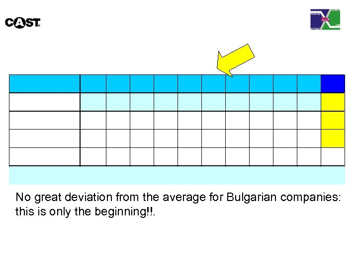 No great deviation from the average for Bulgarian companies: this is only the beginning!!.