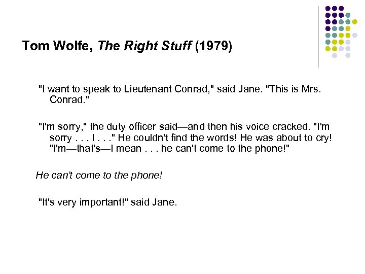 Tom Wolfe, The Right Stuff (1979)