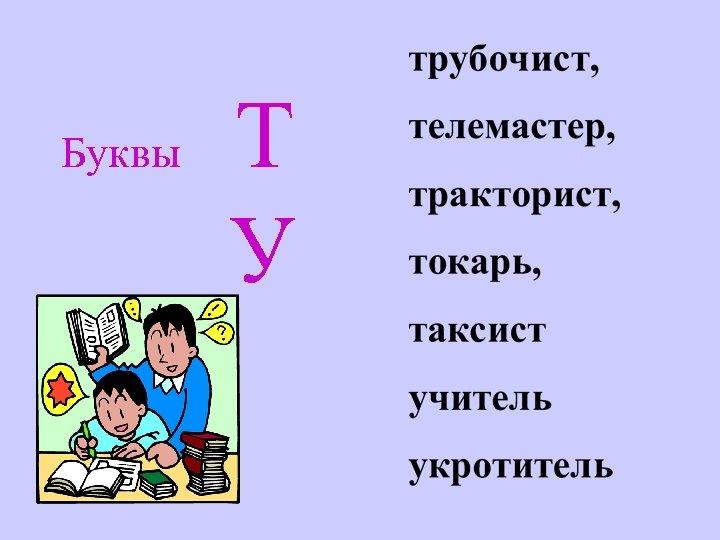 Буквы Т У