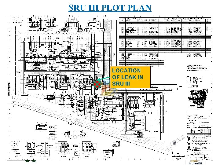 SRU III PLOT PLAN LOCATION OF LEAK IN SRU III Gujarat Refinery - Where