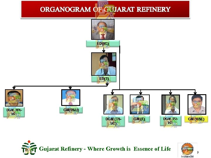 ED(I/C) ED(T) DGM (MNI/C) GM(P&U) DGM (TSI/C) GM (F) DGM (PJI/C) Gujarat Refinery -