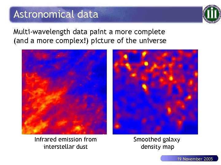 Astronomical data Multi-wavelength data paint a more complete (and a more complex!) picture of