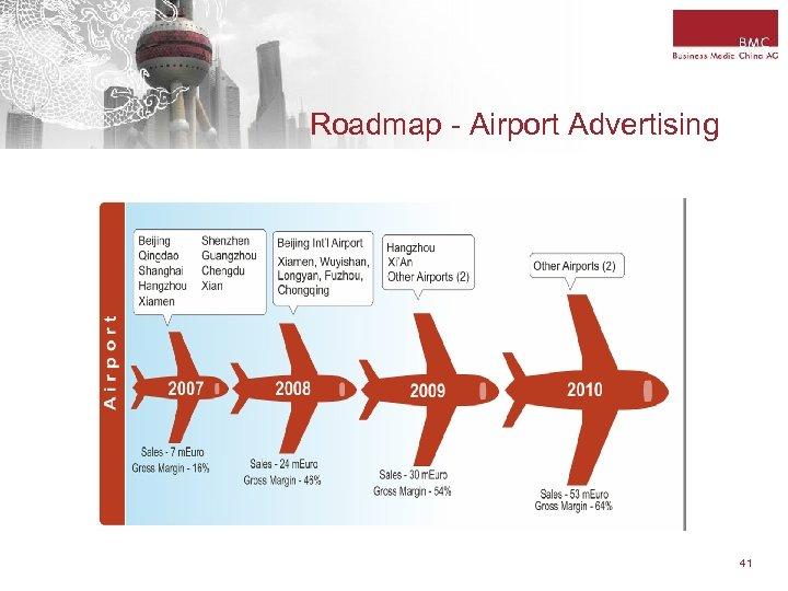 Roadmap - Airport Advertising 41
