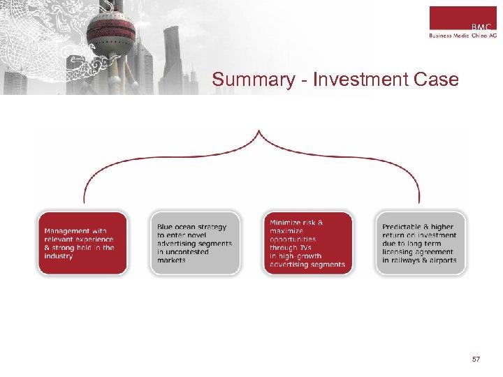 Summary - Investment Case 57