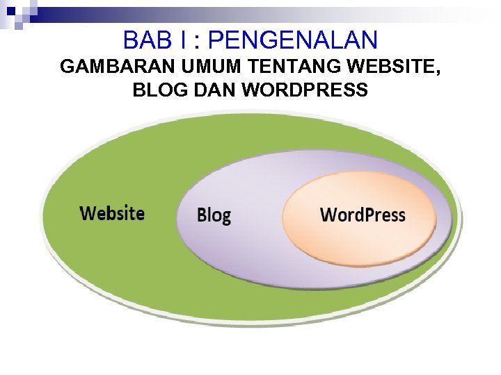 BAB I : PENGENALAN GAMBARAN UMUM TENTANG WEBSITE, BLOG DAN WORDPRESS