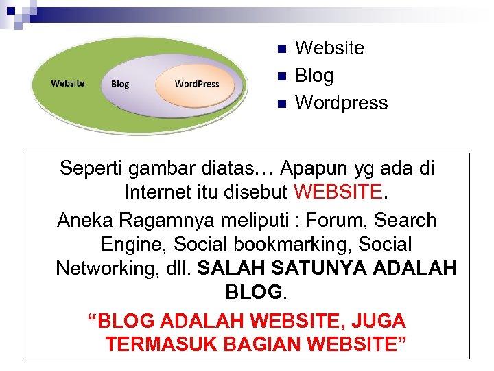 n n n Website Blog Wordpress Seperti gambar diatas… Apapun yg ada di Internet