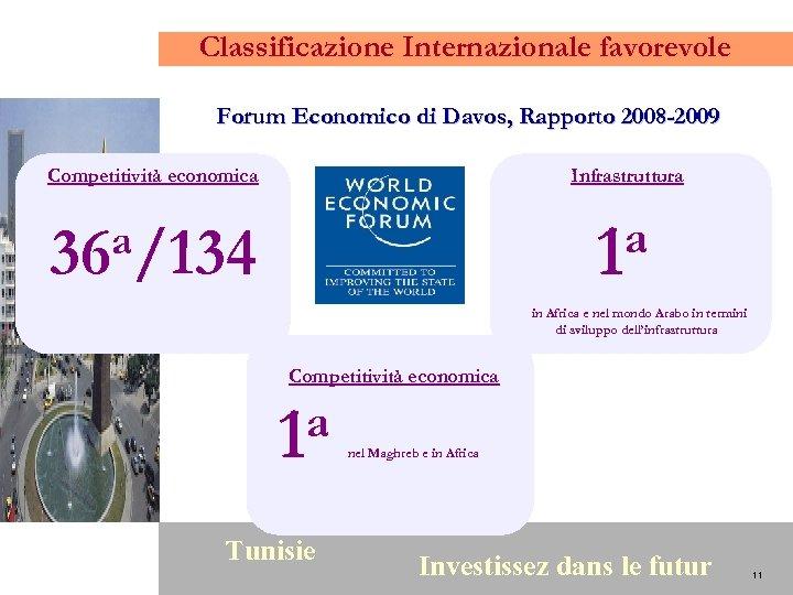 Classificazione Internazionale favorevole Forum Economico di Davos, Rapporto 2008 -2009 Competitività economica Infrastruttura a/134