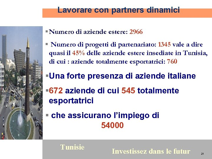 Lavorare con partners dinamici § Numero di aziende estere: 2966 § Numero di progetti